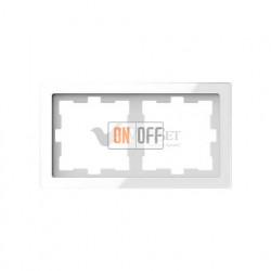Рамка двойная Merten D-life белый кристалл, стекло MTN4020-6520
