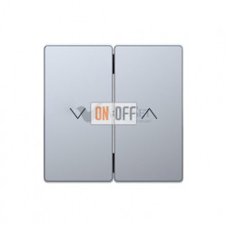 Выключатель управления жалюзи кнопочный, 10 А / 250 В~ Merten D-life, нержавеющая сталь MTN3755-0000 - MTN3855-6036