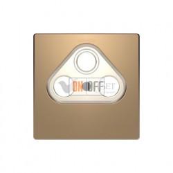 Розетка TV FM проходная, диапазон частот от 4 до 2400 MГц Merten D-life, шампань металл MTN466098 - MTN4123-6051