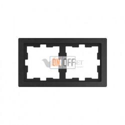 Рамка двойная Merten D-life базальт, камень MTN4020-6547