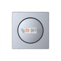 Светорегулятор поворотно-нажимной 20-600 Вт универсальный Merten D-life, нержавеющая сталь MTN5139-0000 - MTN5250-6036