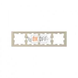 Рамка четверная Merten D-life сахара MTN4040-6533