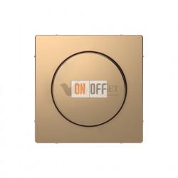 Светорегулятор  поворотно-нажимной 40-600 Вт. для ламп накаливания и галог.220В Merten D-life, шампань металл MTN5133-0000 - MTN5250-6051