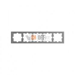 Рамка пятерная Merten D-life нержавеющая сталь MTN4050-6536