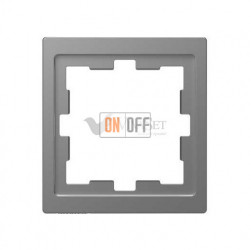 Рамка одинарная Merten D-life нержавеющая сталь MTN4010-6536