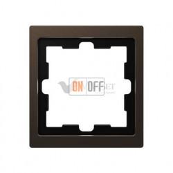 Рамка одинарная Merten D-life мокко металл MTN4010-6552