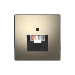 Розетка телефонная одинарная RJ11 Merten D-life, никель металл EPUAE8UPO - MTN4521-6050