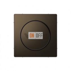 Светорегулятор  поворотно-нажимной 40-600 Вт. для ламп накаливания и галог.220В Merten D-life, мокко металл MTN5133-0000 - MTN5250-6052