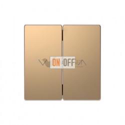 Выключатель управления жалюзи кнопочный, 10 А / 250 В~ Merten D-life, шампань металл MTN3755-0000 - MTN3855-6051