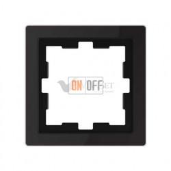 Рамка одинарная Merten D-life черный оникс, стекло MTN4010-6503