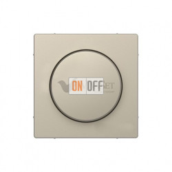 Светорегулятор  поворотно-нажимной 40-600 Вт. для ламп накаливания и галог.220В Merten D-life, сахара MTN5133-0000 - MTN5250-6033