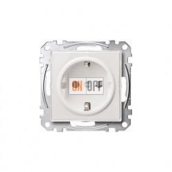 Розетка электрическая 2К+З, 16А, прозрачная MTN2300-3500