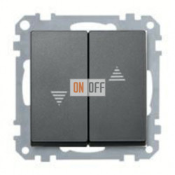 Выключатель управления жалюзи клавишный, 10 А / 250 В~ MTN3715-0000 - MTN435514