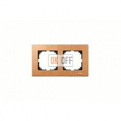 Рамка двойная, для горизон./вертикал. монтажа Merten M-Elegance, бук MTN4052-3470