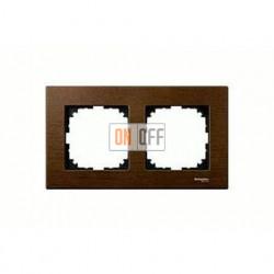 Рамка двойная, для горизон./вертикал. монтажа Merten M-Elegance, орех MTN4052-3473