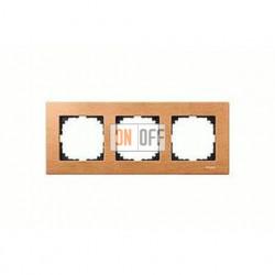 Рамка тройная, для горизон./вертикал. монтажа Merten M-Elegance, бук MTN4053-3470