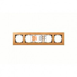Рамка пятерная, для горизон./вертикал. монтажа Merten M-Elegance, бук MTN4055-3470