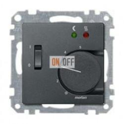 Термостат 230 В~ 10А с выносным датчиком для электрического подогрева пола механизм Eberle FRe 525 22 - MTN535814