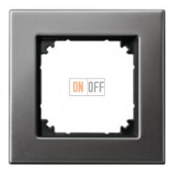 Рамка одинарная Merten M-Elegance, серый родий MTN403114