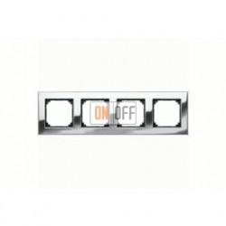 Рамка четверная, для горизон./вертикал. монтажа Merten M-Elegance, хром MTN403439