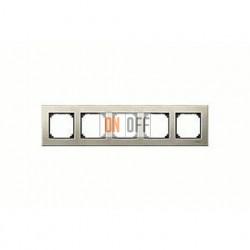 Рамка пятерная, для горизон./вертикал. монтажа Merten M-Elegance, титан MTN403505