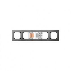 Рамка пятерная, для горизон./вертикал. монтажа Merten M-Elegance, серый родий MTN403514