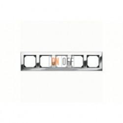 Рамка пятерная, для горизон./вертикал. монтажа Merten M-Elegance, хром MTN403539