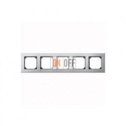 Рамка пятерная, для горизон./вертикал. монтажа Merten M-Elegance, платина-серебро MTN403560