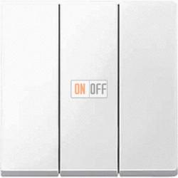 Выключатель трехклавишный 10 А / 250 В~, цвет белый глянцевый MTN311900 - MTN312619