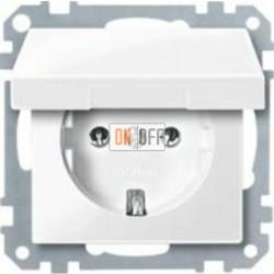 Розетка с заземляющими контактами 16 А / 250 В~, с откидной крышкой MTN2311-0319