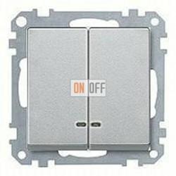Выключатель двухклавишный с подсветкой, 10 А / 250 В~ MTN3135-0000 - MTN3420-0460