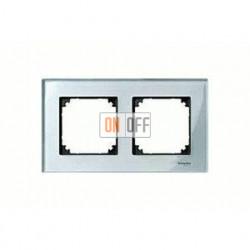 Рамка двойная, для горизон./вертикал. монтажа Merten M-Elegance, алмаз MTN4020-3260
