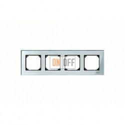 Рамка четверная, для горизон./вертикал. монтажа Merten M-Elegance, алмаз MTN4040-3260