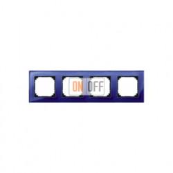 Рамка четверная, для горизон./вертикал. монтажа Merten M-Elegance, сапфир MTN4040-3278