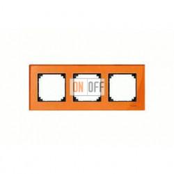 Рамка тройная, для горизон./вертикал. монтажа Merten M-Elegance, оранжевый кальцит MTN404302
