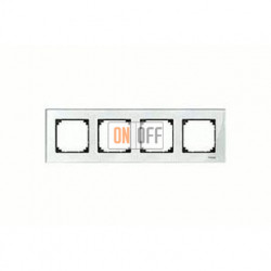 Рамка четверная, для горизон./вертикал. монтажа Merten M-Elegance, бриллиант MTN404419