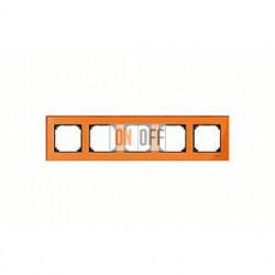 Рамка пятерная, для горизон./вертикал. монтажа Merten M-Elegance, оранжевый кальцит MTN404502