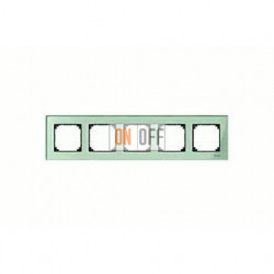 Рамка пятерная, для горизон./вертикал. монтажа Merten M-Elegance, изумруд MTN404504