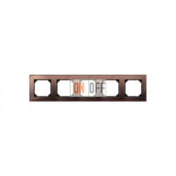 Рамка пятерная, для горизон./вертикал. монтажа Merten M-Elegance, махагон MTN4050-3215