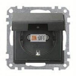 Розетка с заземляющими контактами 16 А / 250 В~, с откидной крышкой MTN2311-0414
