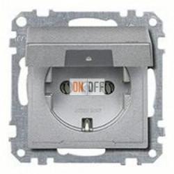 Розетка с заземляющими контактами 16 А / 250 В~, с откидной крышкой MTN2311-0460