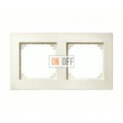 Рамка двойная, для горизон./вертикал. монтажа Merten M-Plan, кремовый глянцевый MTN515244