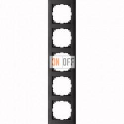 Рамка 5 местная Merten M-Pure антрацит MTN4050-3614