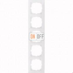 Рамка 5 местная Merten M-Pure белый глянец MTN4050-3619