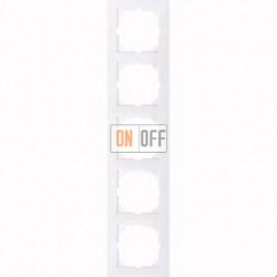 Рамка 5 местная Merten M-Pure активный белый MTN4050-3625