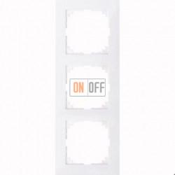 Рамка 3 местная Merten M-Pure активный белый MTN4030-3625