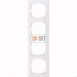 Рамка 4 местная Merten M-Pure белый глянец MTN4040-3619