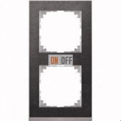 Рамка 2 местная Merten M-Pure Decor сланец (алюминий) MTN4020-3669