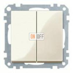 Выключатель двухклавишный, проходной (вкл/выкл с 2-х мест) 10 А / 250 В~ MTN3126-0000 - MTN432544
