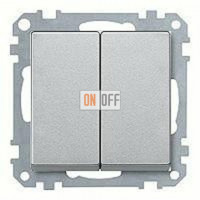 Выключатель двухклавишный, проходной (вкл/выкл с 2-х мест) 10 А / 250 В~ MTN3126-0000 - MTN433560